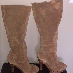 Michael Kors Size 7 Tan High Heel Boots